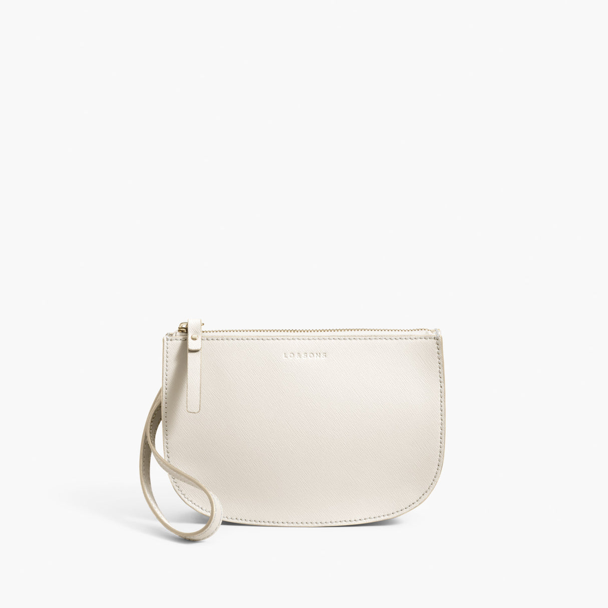 Wristlet Crossbody - The Waverley 2 - Saffiano Leather - Ivory / Gold / Camel - Crossbody - Lo & Sons