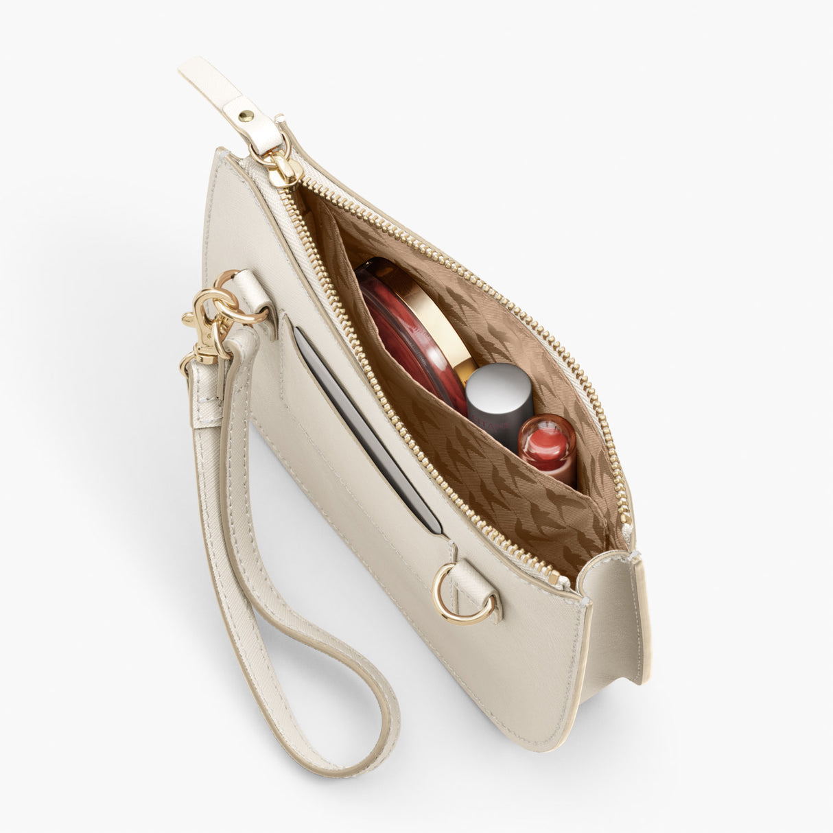 Pockets Crossbody - The Waverley 2 - Saffiano Leather - Ivory / Gold / Camel - Crossbody - Lo & Sons