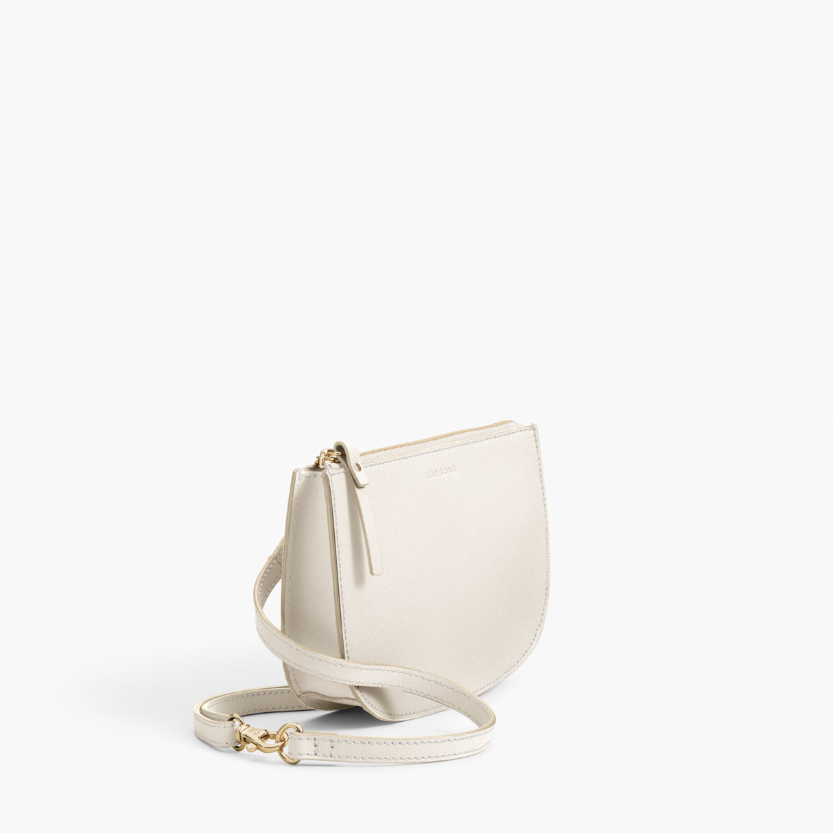 Side Crossbody - The Waverley 2 - Saffiano Leather - Ivory / Gold / Camel - Crossbody - Lo & Sons