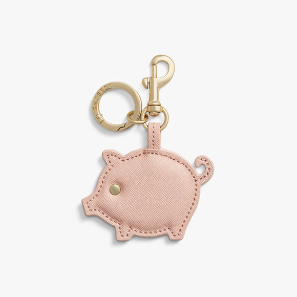 Front - Year of the Pig Charm - Saffiano Leather - Rose Quartz - Small Accessory - Lo & Sons