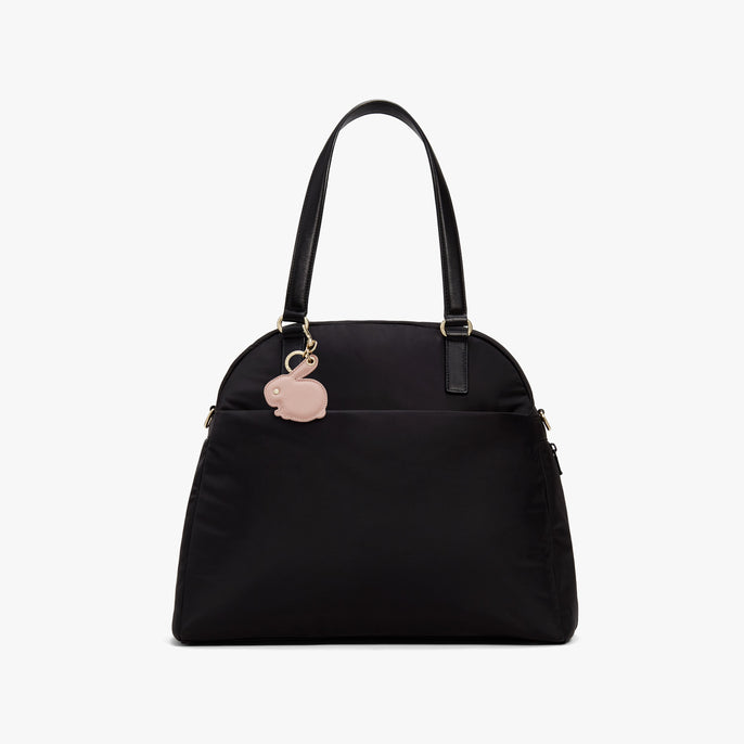 On Bag - Year of the Rabbit Charm - Saffiano Leather - Rose Quartz - Small Accessory - Lo & Sons