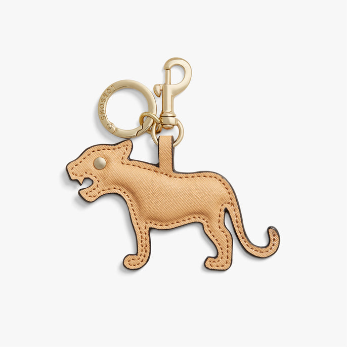 Front - Year of the Tiger Charm - Saffiano Leather - Sand - Small Accessory - Lo & Sons