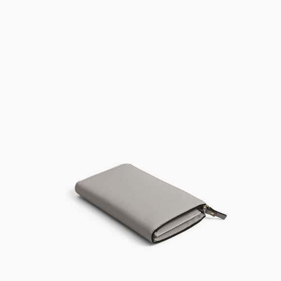 Back - The Leather Wallet - Nappa Leather - Light Grey / Gold / Grey - Small Accessory - Lo & Sons