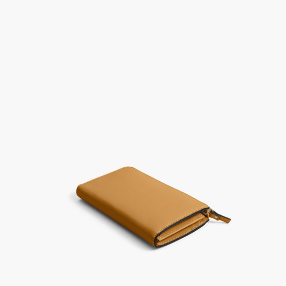Back - The Leather Wallet - Nappa Leather - Sand / Gold / Camel - Small Accessory - Lo & Sons