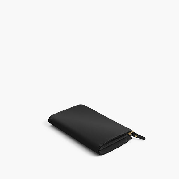 Back - The Leather Wallet - Saffiano Leather - Black / Gold / Grey - Small Accessory - Lo & Sons