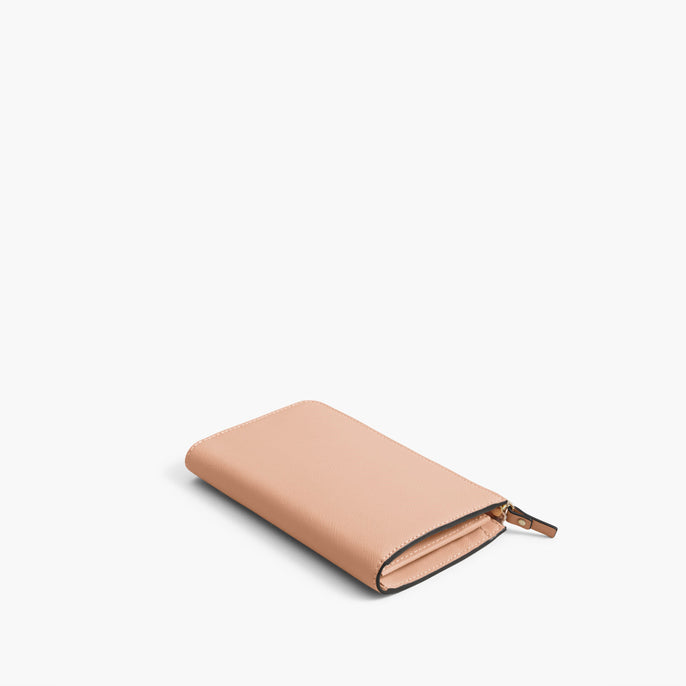 Back - The Leather Wallet - Saffiano Leather - Rose Quartz / Gold / Camel - Small Accessory - Lo & Sons