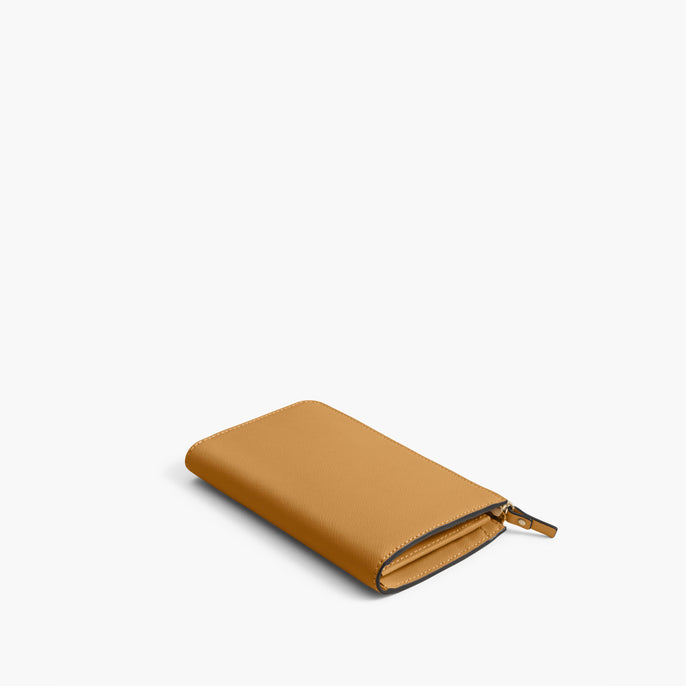 Back - The Leather Wallet - Saffiano Leather - Sand / Gold / Camel - Small Accessory - Lo & Sons
