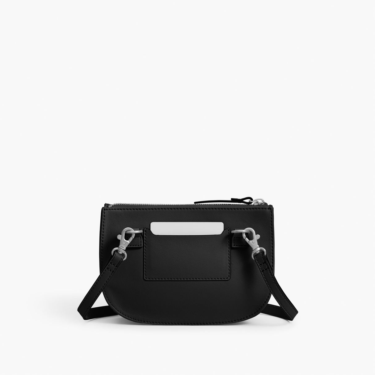 Back - Waverley 2 - Nappa Leather - Black / Silver / Grey - Crossbody Bag - Lo & Sons