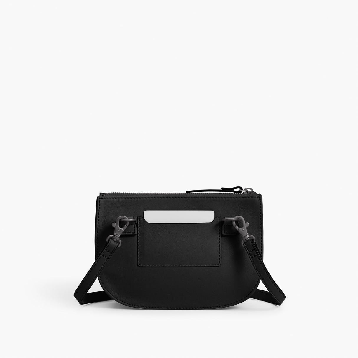 Back - The Waverley 2 - Nappa Leather - Black / Gunmetal / Grey - Crossbody - Lo & Sons