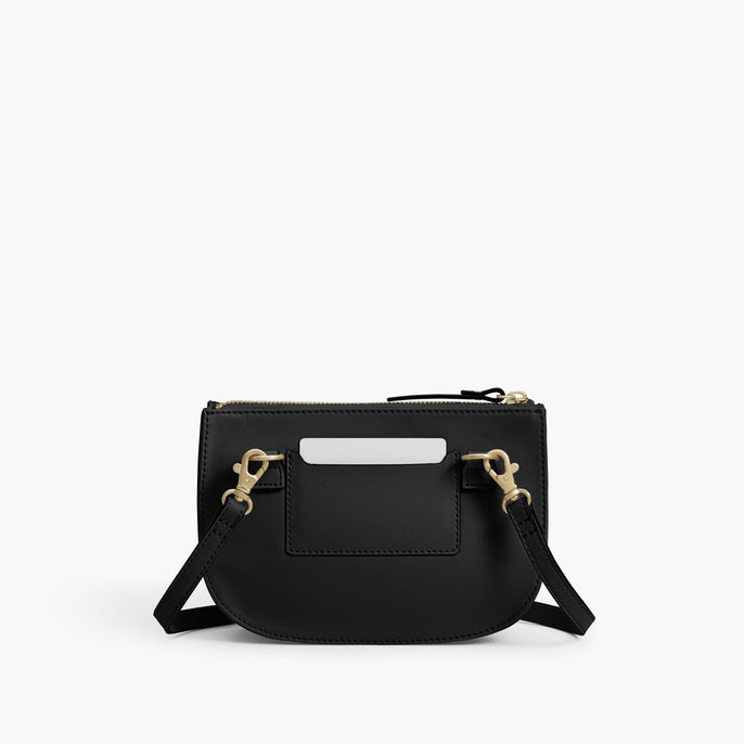 Back - The Waverley 2 - Nappa Leather - Black / Gold / Grey - Crossbody - Lo & Sons