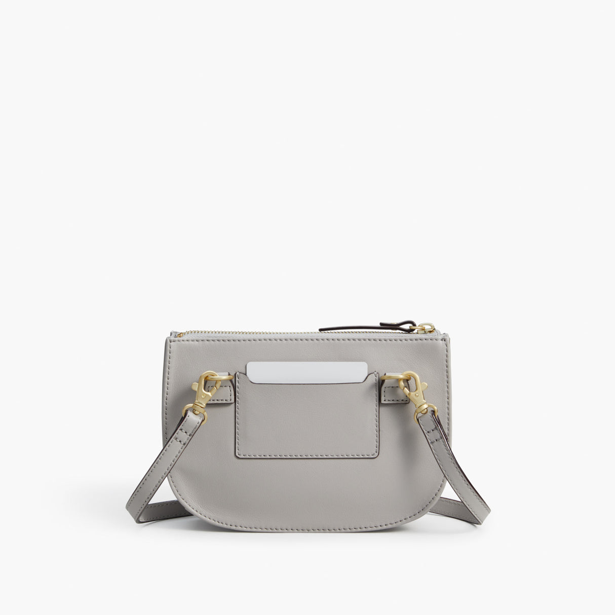 Back - The Waverley 2 - Nappa Leather - Light Grey / Gold / Grey - Crossbody - Lo & Sons
