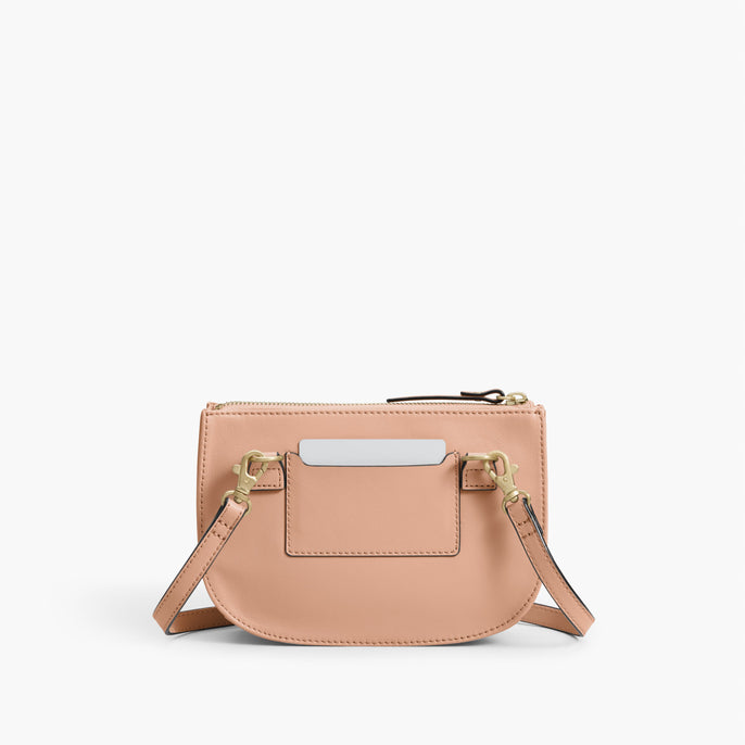 Back  - The Waverley 2 - Nappa Leather - Rose Quartz / Gold / Camel - Crossbody - Lo & Sons