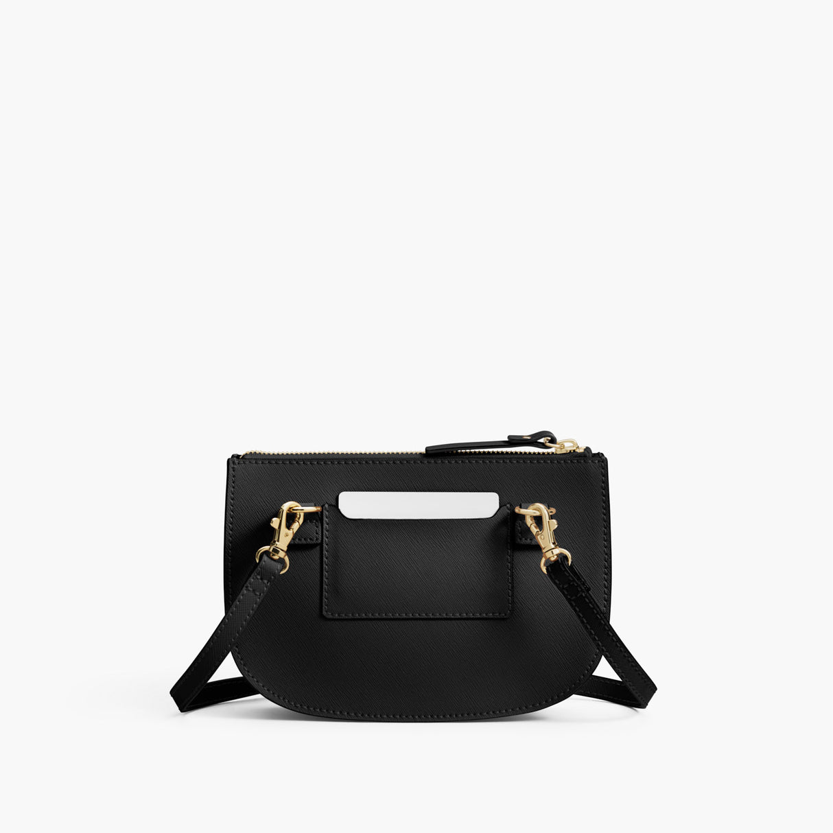 Back - The Waverley 2 - Saffiano Leather - Black / Gold / Grey - Crossbody - Lo & Sons