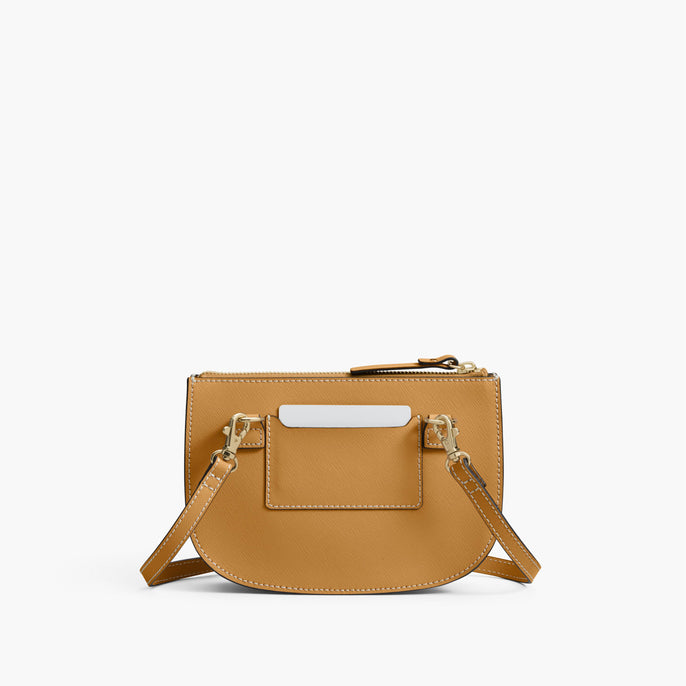 Back - The Waverley 2 - Saffiano Leather - Sand / Gold / Camel - Crossbody - Lo & Sons