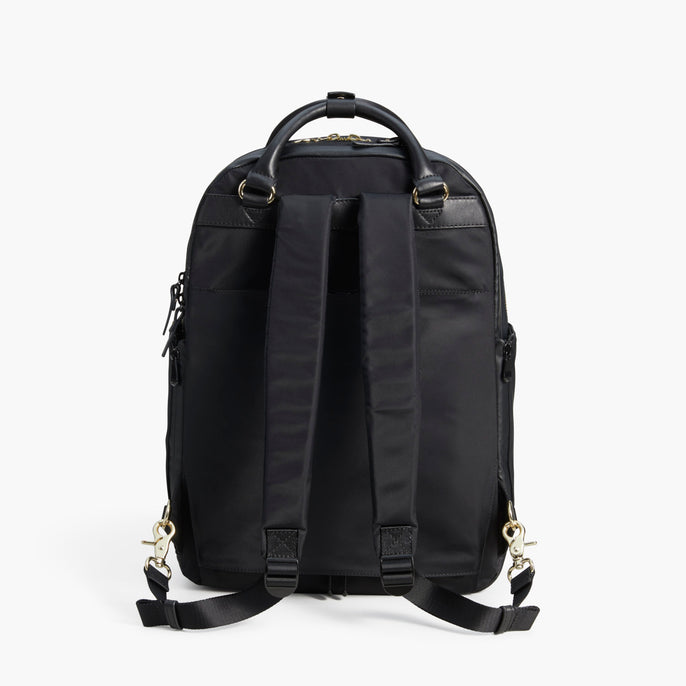 Back Backpack - The Rowledge - Nylon - Black / Gold / Lavender - Backpack - Lo & Sons