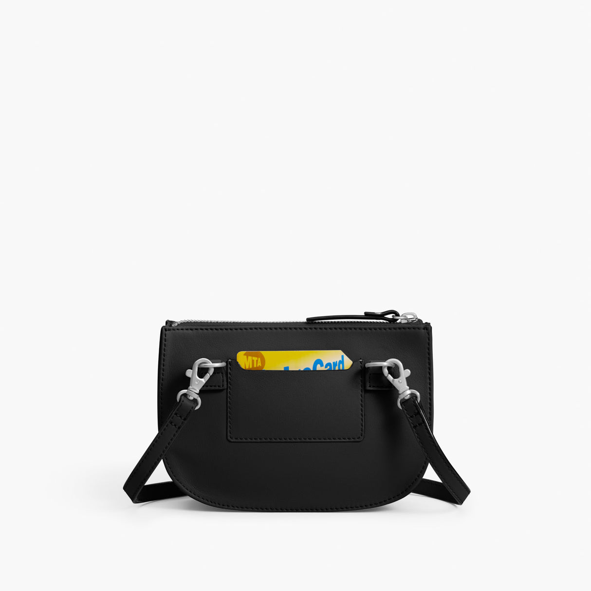 Back Card - Waverley 2 - Nappa Leather - Black / Silver / Grey - Crossbody Bag - Lo & Sons