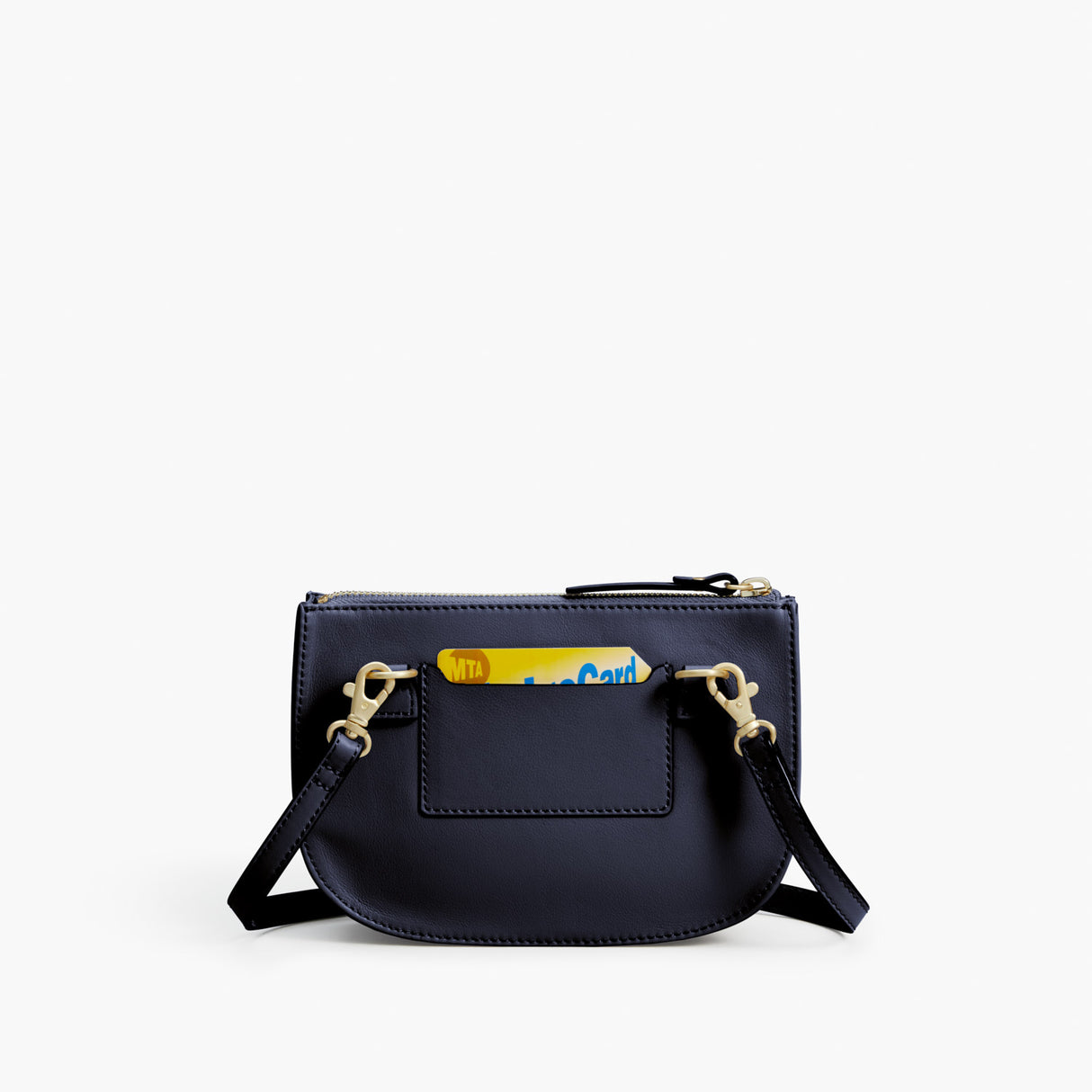 Back Card Slot - Waverley 2 - Nappa Leather - Deep Navy / Gold / Camel - Crossbody Bag - Lo & Sons