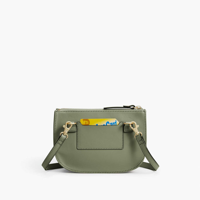 Back Card Slot - Waverley 2 - Nappa Leather - Sage Green / Gold / Camel - Crossbody Bag - Lo & Sons
