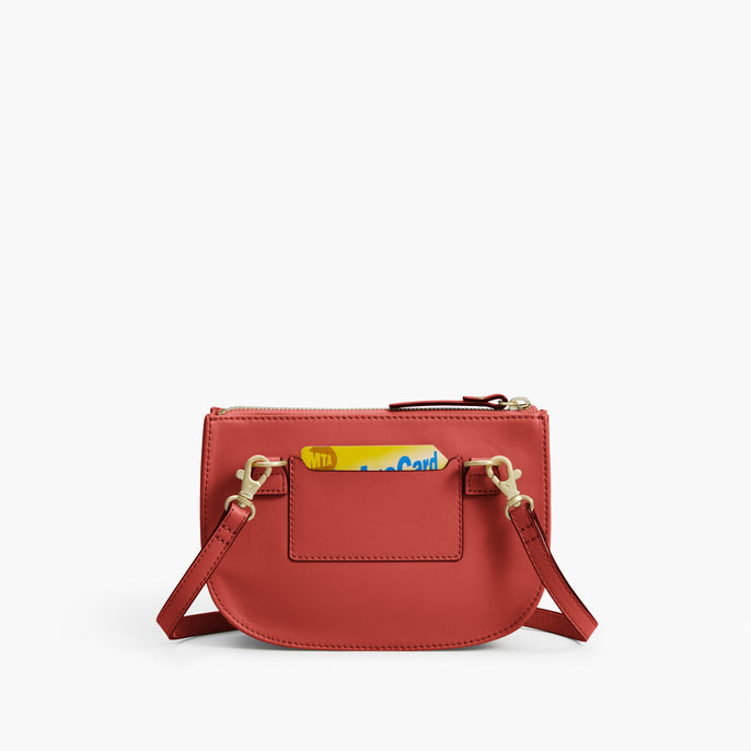 Back Card Slot - Waverley 2 - Nappa Leather - Santa Fe Red / Gold / Camel - Crossbody Bag - Lo & Sons