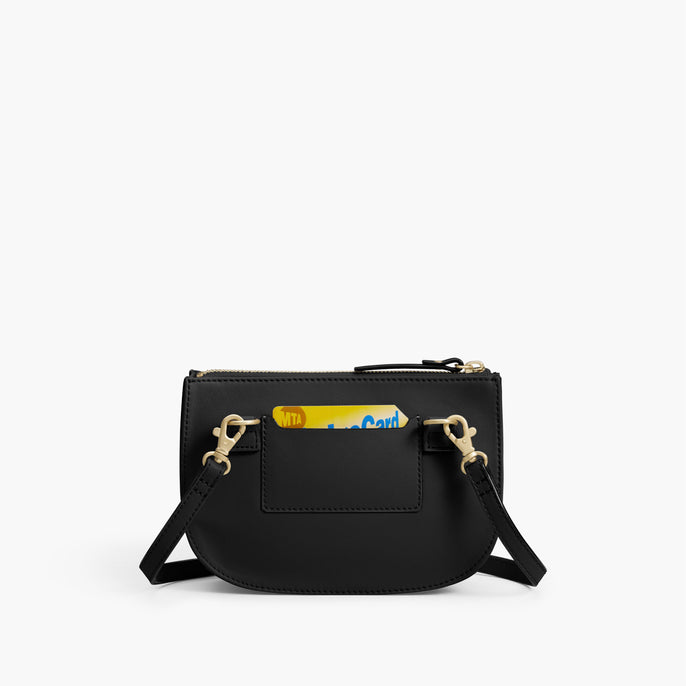 Back Card Slot - The Waverley 2 - Nappa Leather - Black / Gold / Grey - Crossbody - Lo & Sons