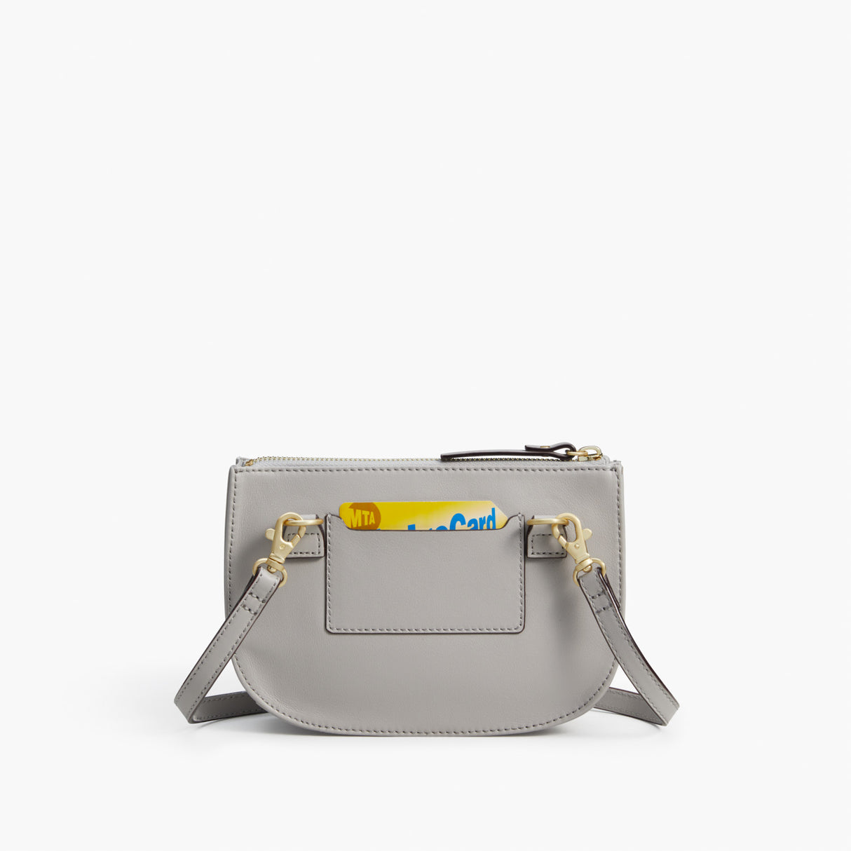 Back Card Slot - The Waverley 2 - Nappa Leather - Light Grey / Gold / Grey - Crossbody - Lo & Sons