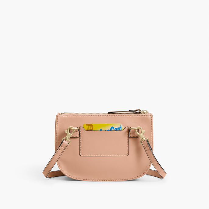 Back Card Slot - The Waverley 2 - Nappa Leather - Rose Quartz / Gold / Camel - Crossbody - Lo & Sons