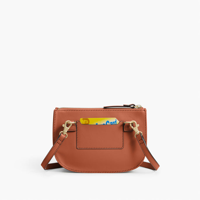 Back Card Slot - The Waverley 2 - Nappa Leather - Sienna / Gold / Camel - Crossbody - Lo & Sons