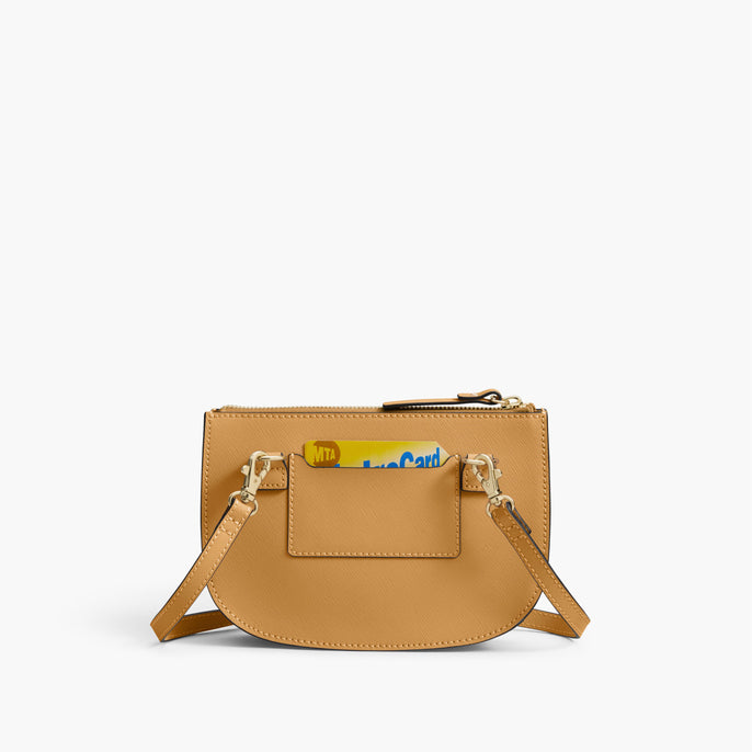 Back Card Slot - The Waverley 2 - Saffiano Leather - Sand / Gold / Camel - Crossbody - Lo & Sons