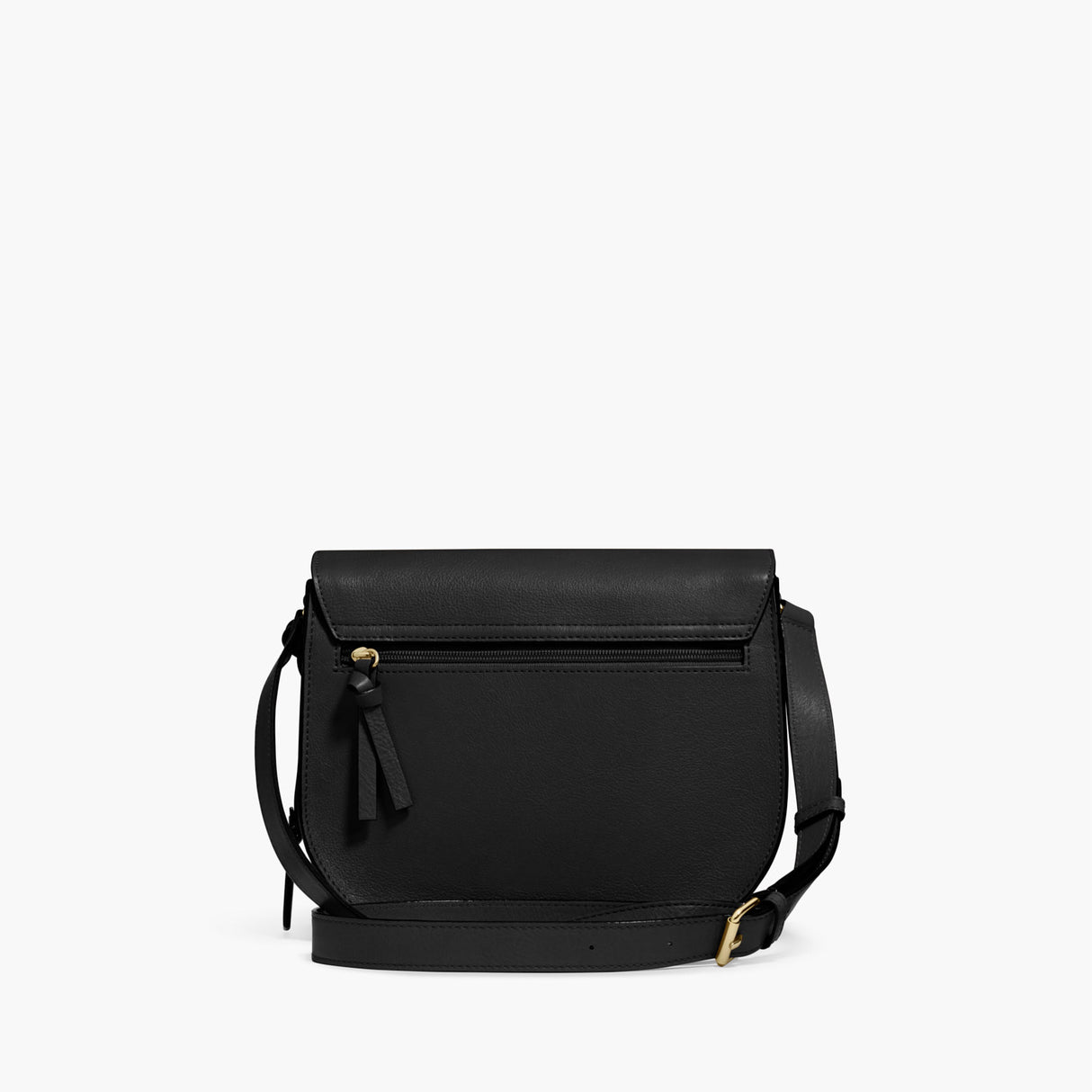 Back - The Claremont - Full Grain Leather - Black - Crossbody - Lo & Sons