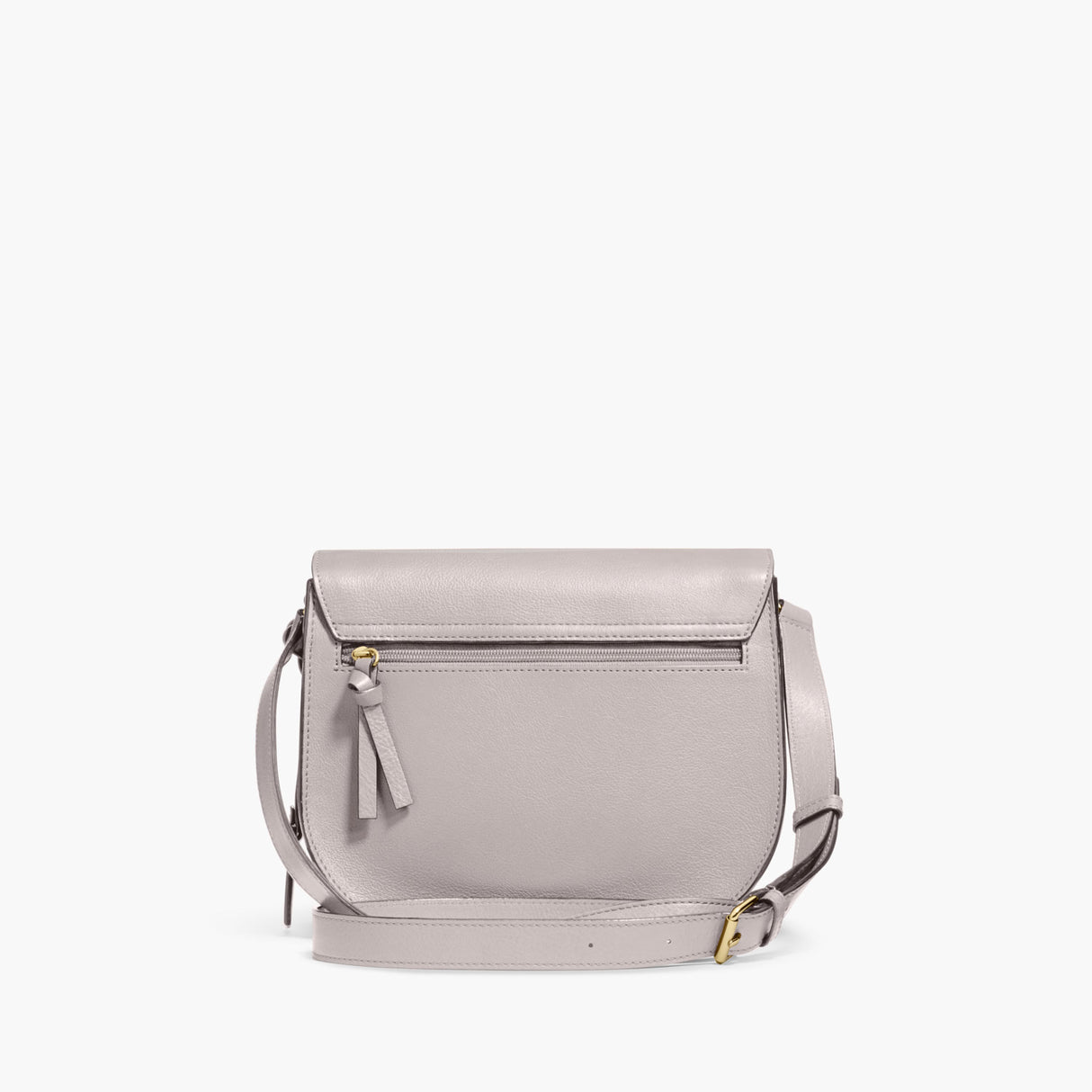 Back - The Claremont - Full Grain Leather - Light Grey - Crossbody - Lo & Sons