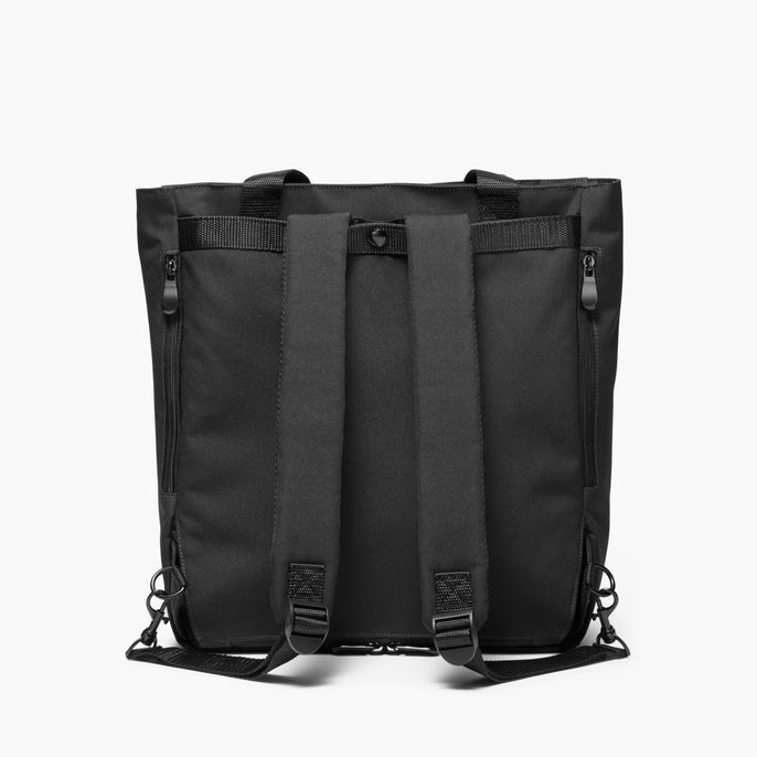 Backview Straps - Edgemont - 600D Recycled Poly - Onyx - Backpack - Lo & Sons