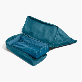 Bottom Empty - The Catalina Deluxe - Washed Canvas - Teal Blue - Weekender - Lo & Sons