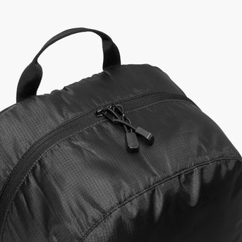 Cross Zips - The Hanover - Ripstop Recycled Poly - Black - Backpack - Lo & Sons