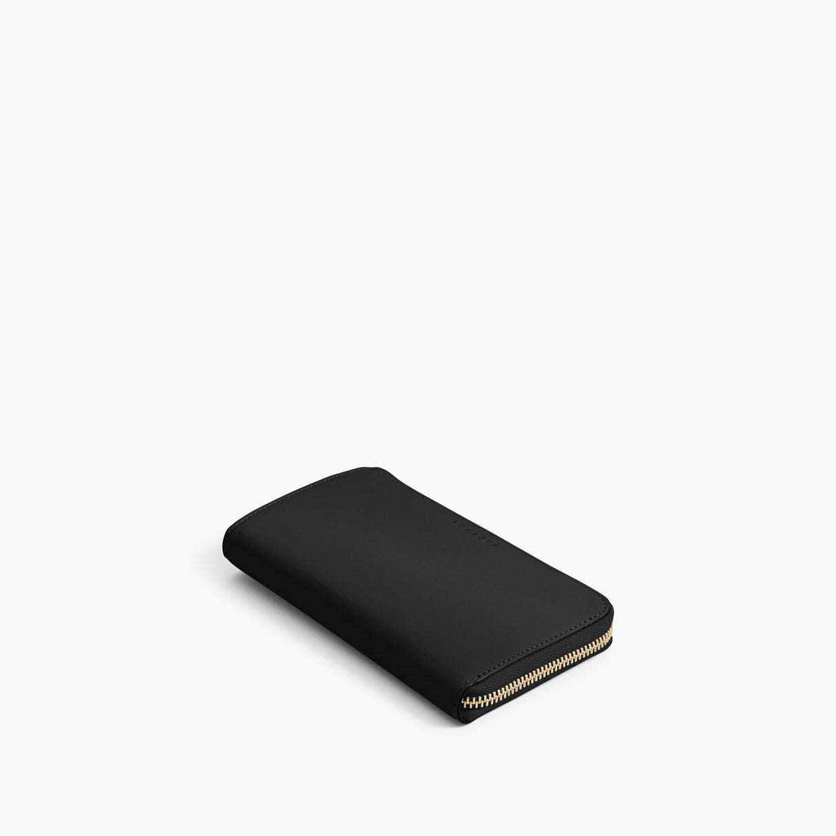Front - The Leather Wallet - Nappa Leather - Black / Gold / Grey - Small Accessory - Lo & Sons