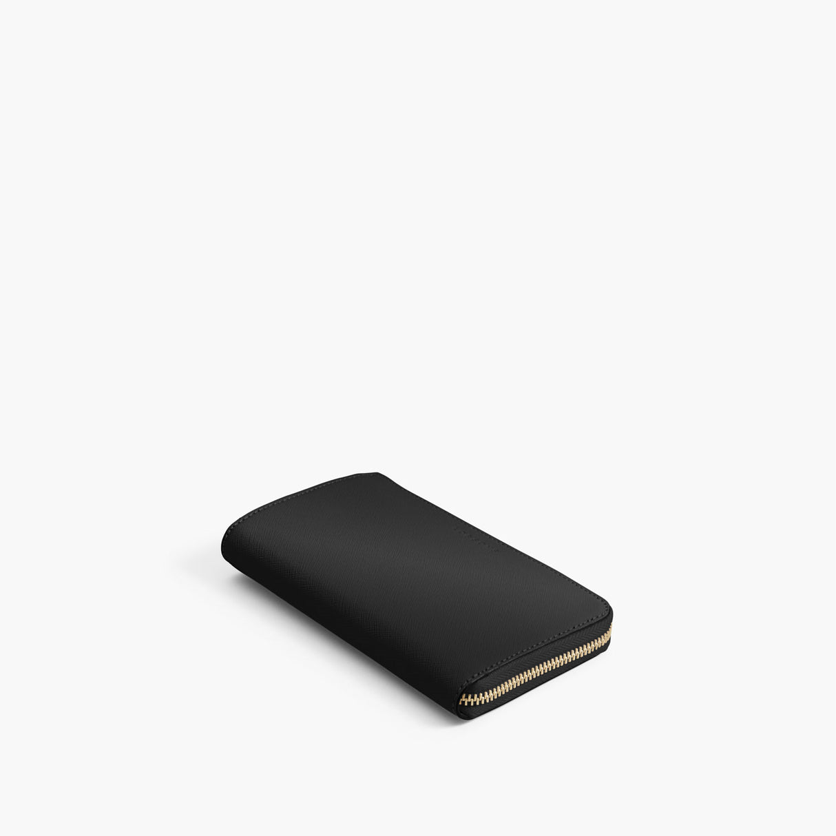 Front - The Leather Wallet - Saffiano Leather - Black / Gold / Grey - Small Accessory - Lo & Sons