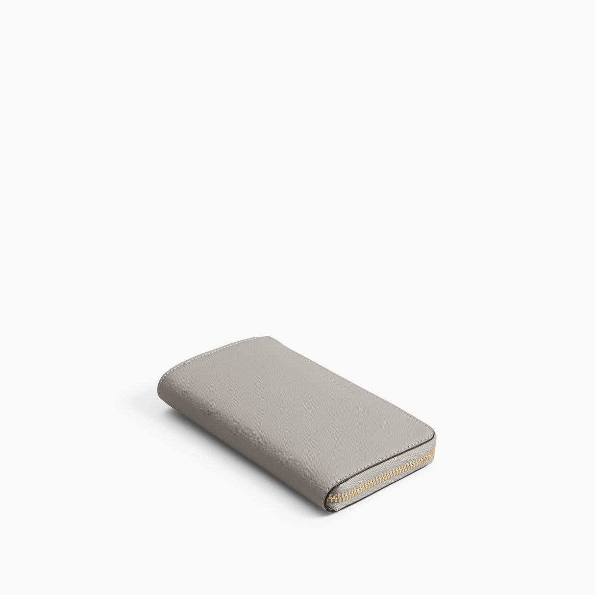 Front - The Leather Wallet - Saffiano Leather - Light Grey / Gold / Grey - Small Accessory - Lo & Sons