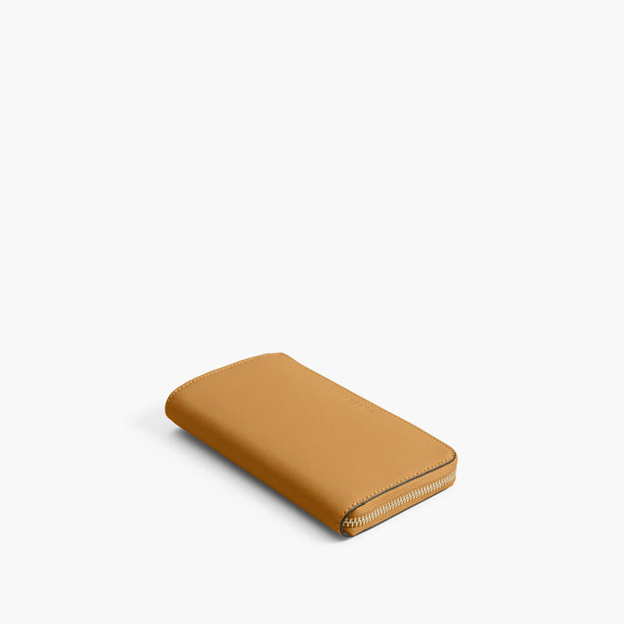 Front - The Leather Wallet - Saffiano Leather - Sand / Gold / Camel - Small Accessory - Lo & Sons
