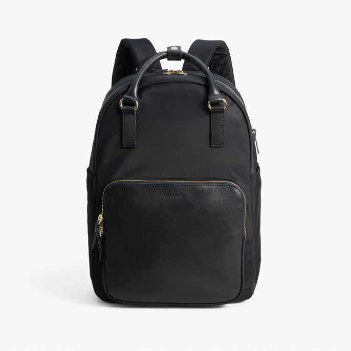 Front Backpack - The Rowledge - Nylon - Black / Gold / Lavender - Backpack - Lo & Sons