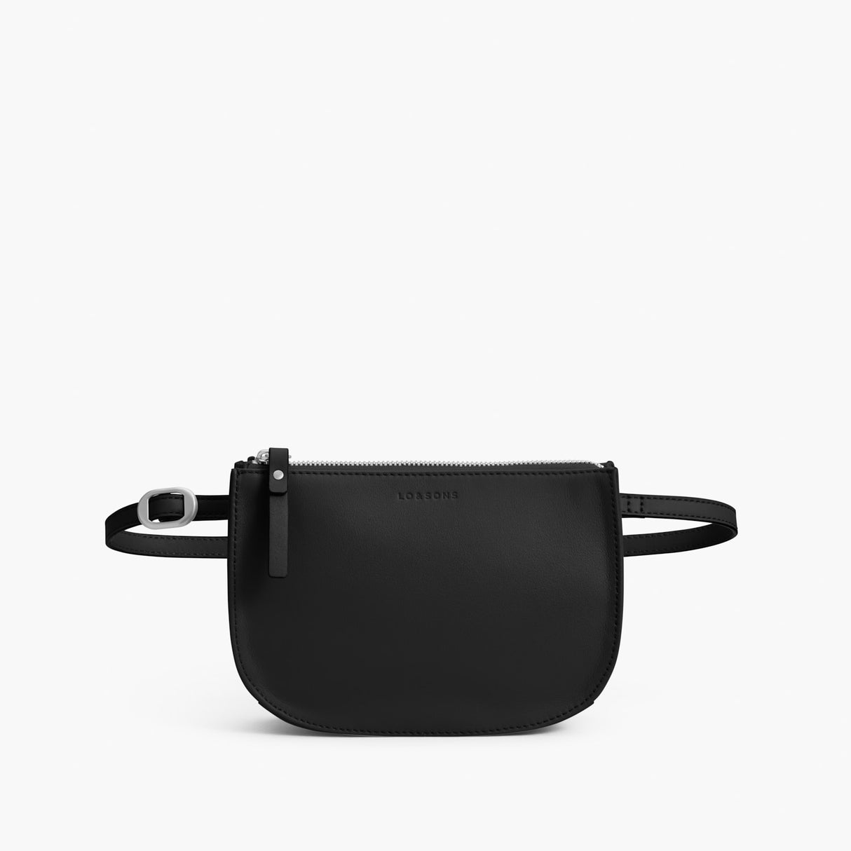 Front Belt - Waverley 2 - Nappa Leather - Black / Silver / Grey - Crossbody Bag - Lo & Sons