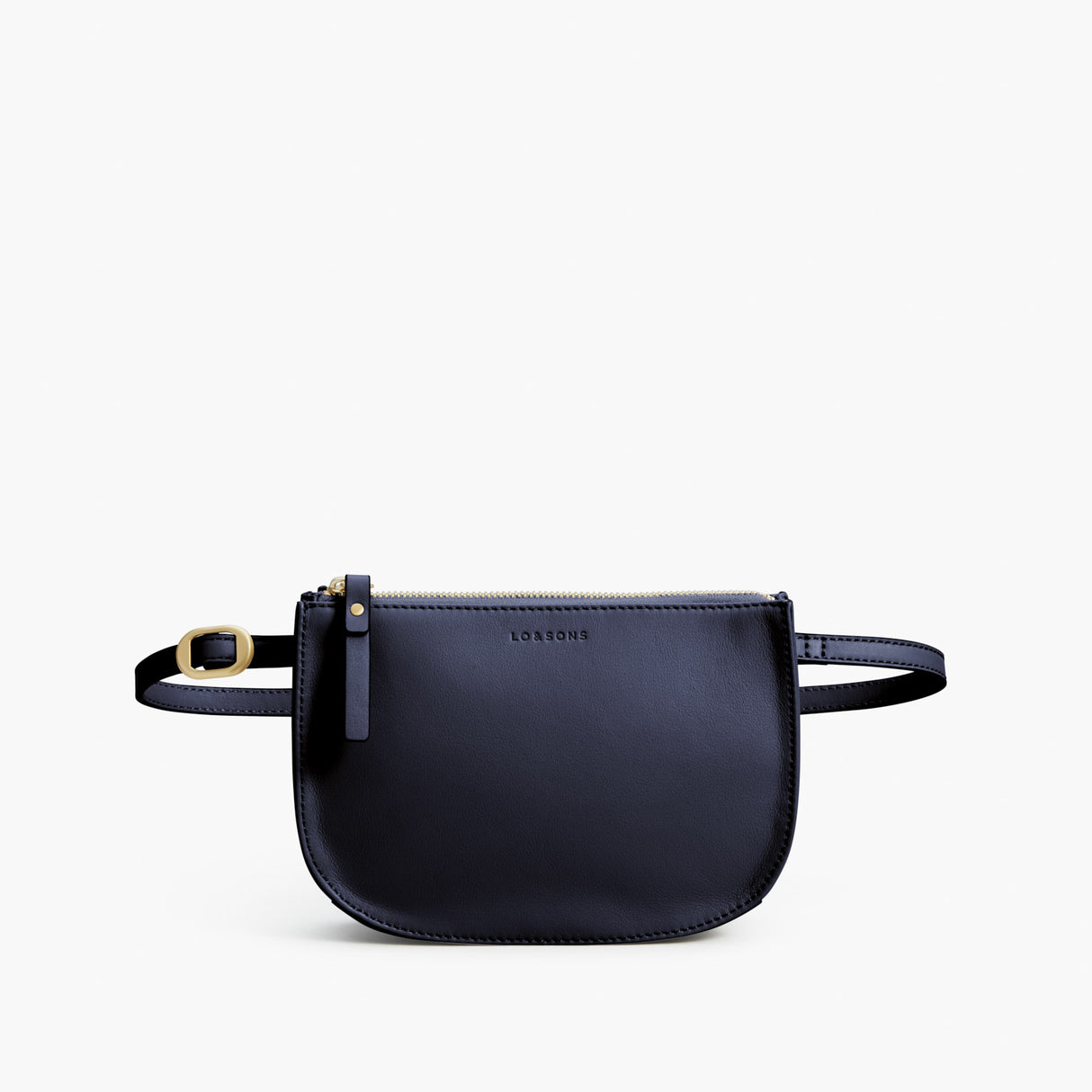 Front Crossbody - Waverley 2 - Nappa Leather - Deep Navy / Gold / Camel - Crossbody Bag - Lo & Sons
