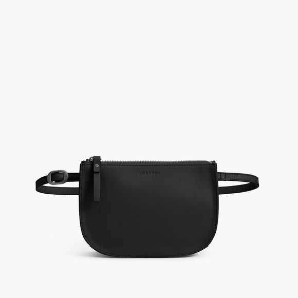 Front Belt - The Waverley 2 - Nappa Leather - Black / Gunmetal / Grey - Crossbody - Lo & Sons