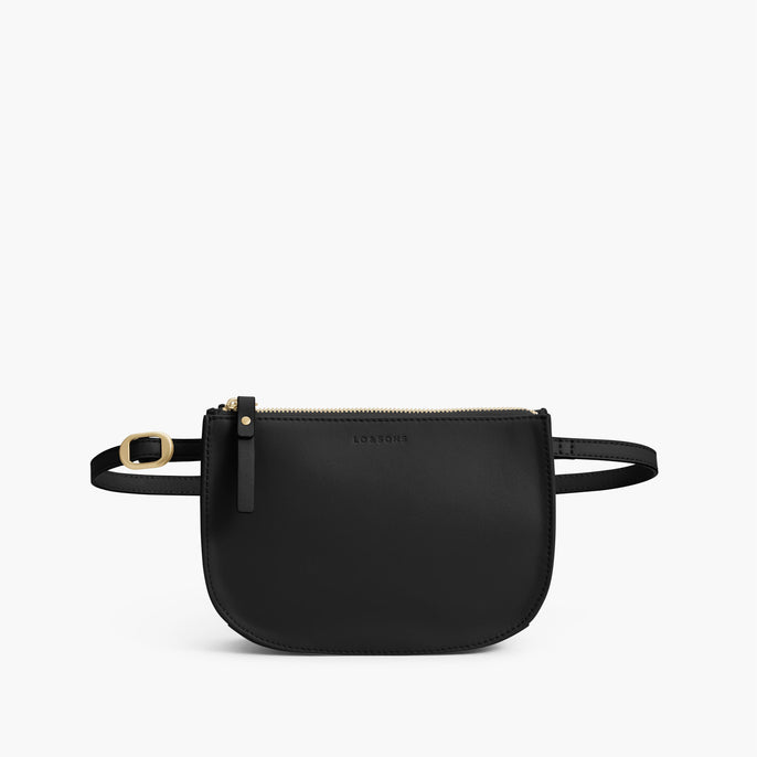 Front Belt - The Waverley 2 - Nappa Leather - Black / Gold / Grey - Crossbody - Lo & Sons