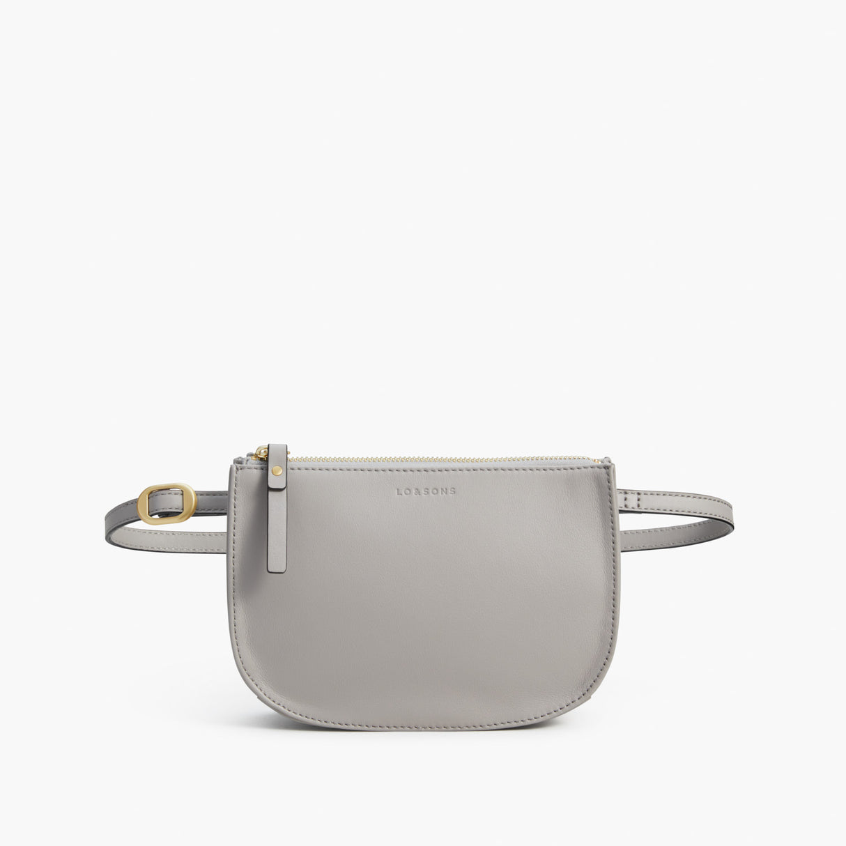 Front Belt - The Waverley 2 - Nappa Leather - Light Grey / Gold / Grey - Crossbody - Lo & Sons