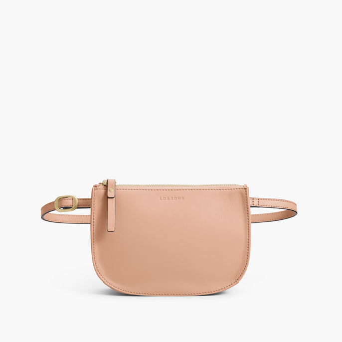Front Belt - The Waverley 2 - Nappa Leather - Rose Quartz / Gold / Camel - Crossbody - Lo & Sons