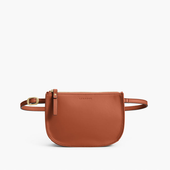 Front Belt - The Waverley 2 - Nappa Leather - Sienna / Gold / Camel - Crossbody - Lo & Sons