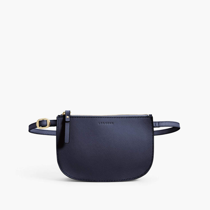 Front Belt - Waverley 2 - Saffiano Leather - Deep Navy / Gold / Camel - Crossbody Bag - Lo & Sons