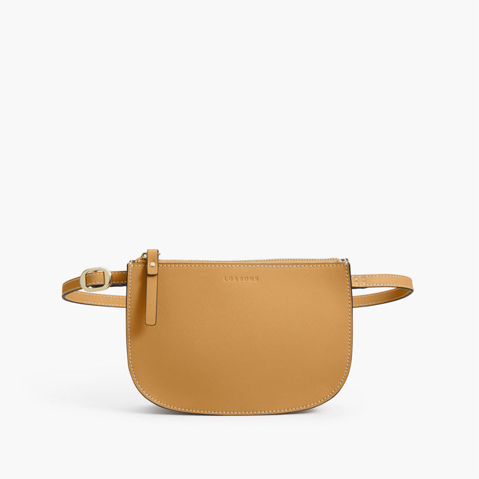 Front Belt - The Waverley 2 - Saffiano Leather - Sand / Gold / Camel - Crossbody - Lo & Sons