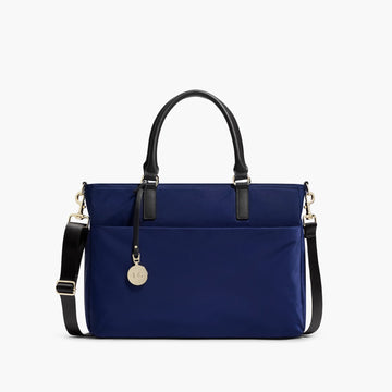 Front - The Brookline - Nylon - Navy / Gold / Lavender - Tote - Lo & Sons