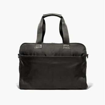Front - The Cambridge - 600D Recycled Poly - Onyx - Briefcase - Lo & Sons