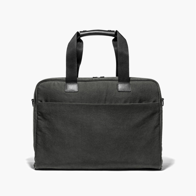 Front - The Cambridge - Waxed Twill - Charcoal - Briefcase - Lo & Sons